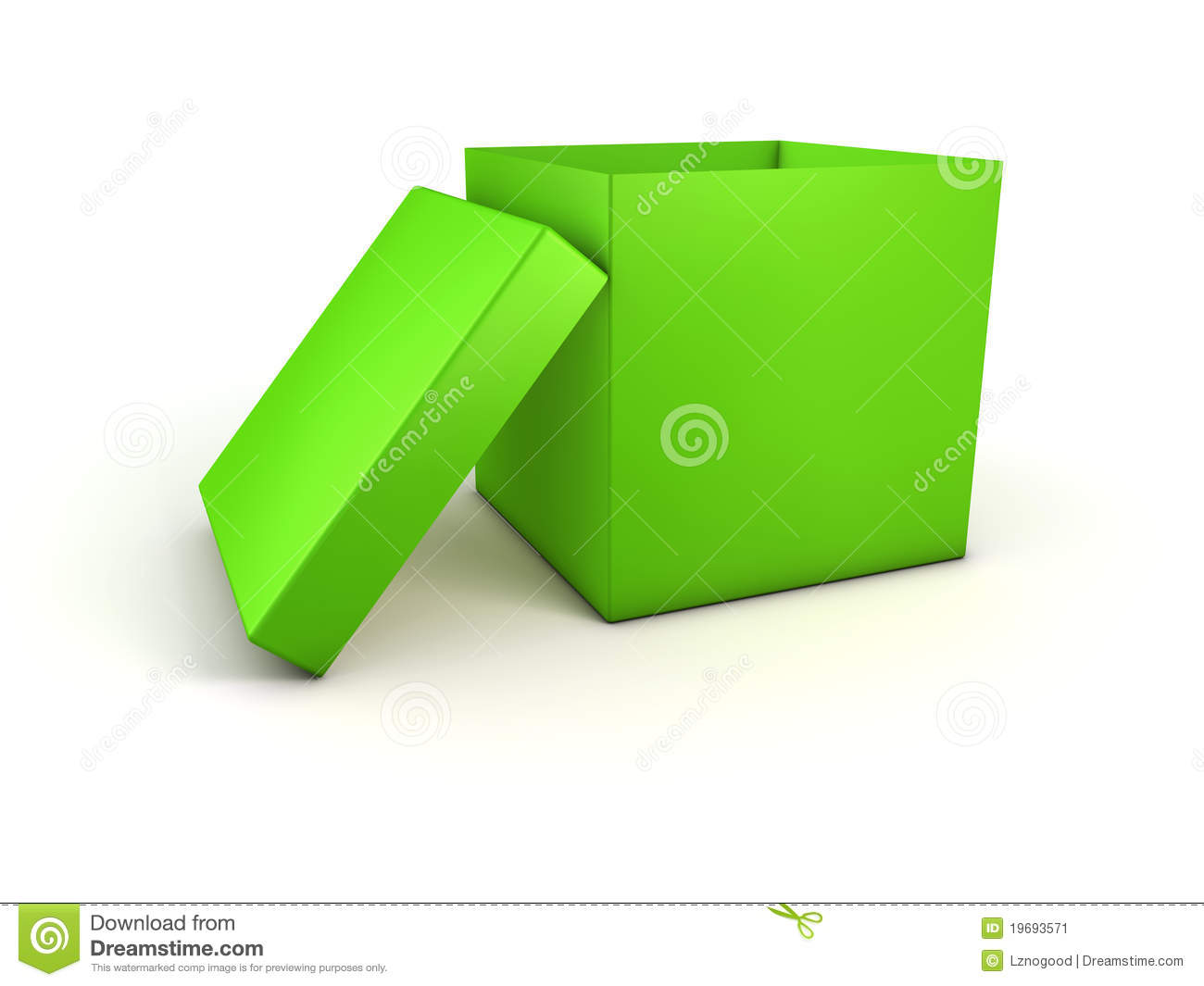 Green Open Box Stock Image