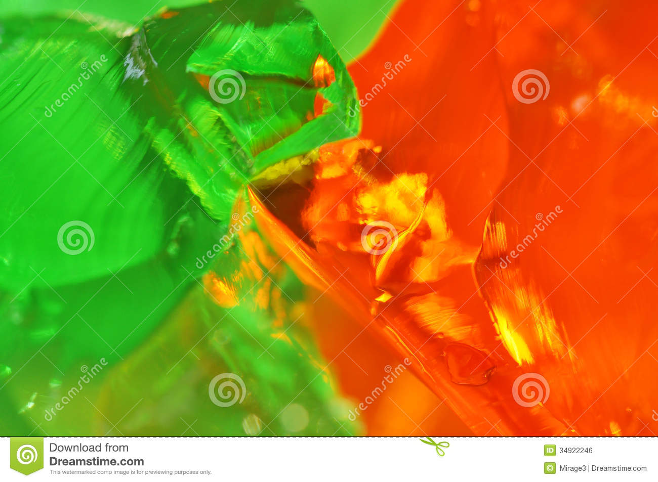 Green And Orange Jelly Royalty Free Stock Image Image
