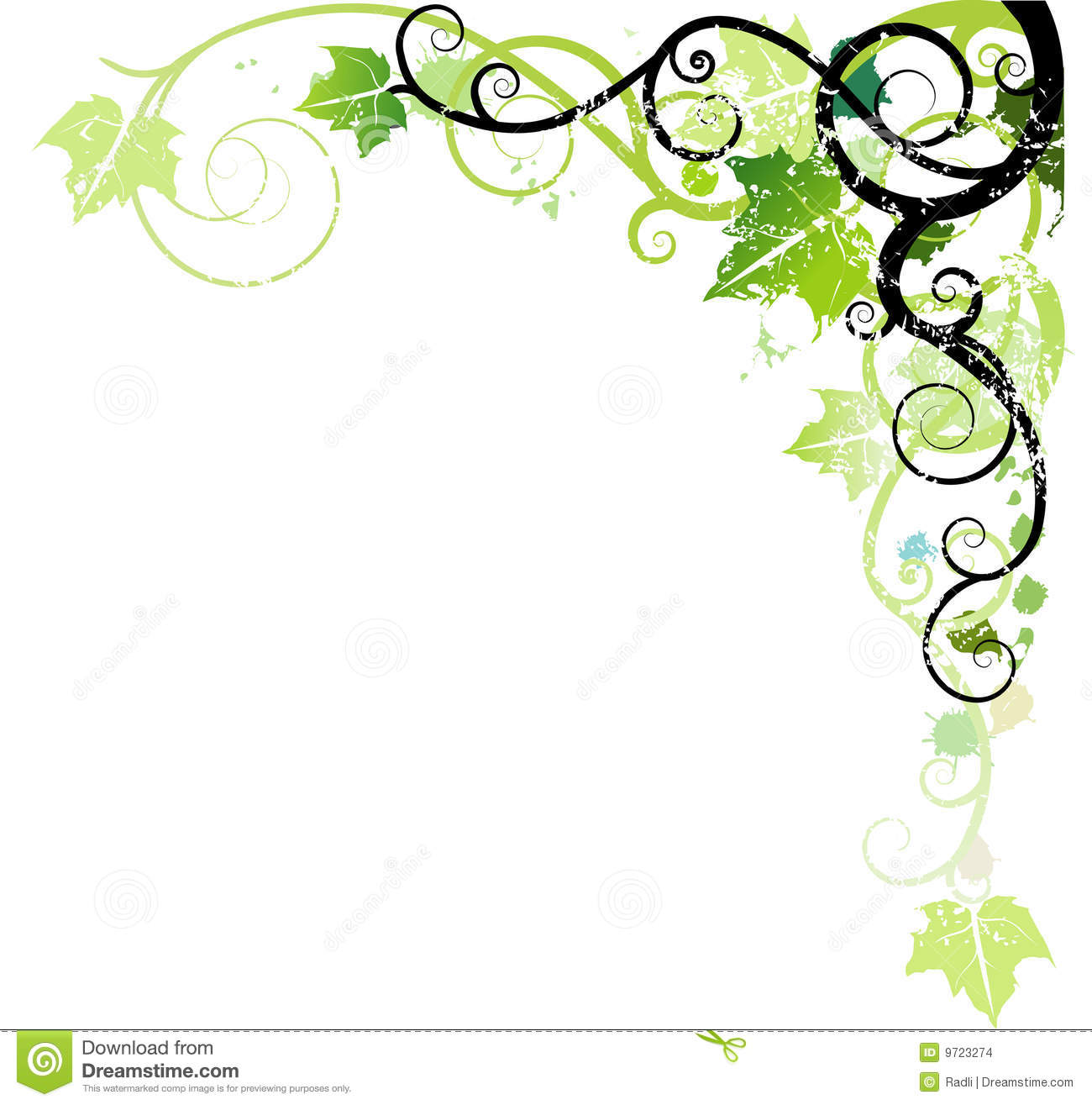 Green ornament stock vector. Image of decoration, banner
