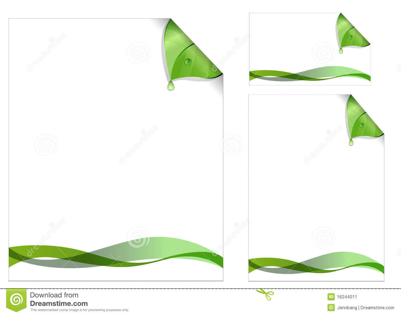 Green page design stock image image 16244011 for Green plans