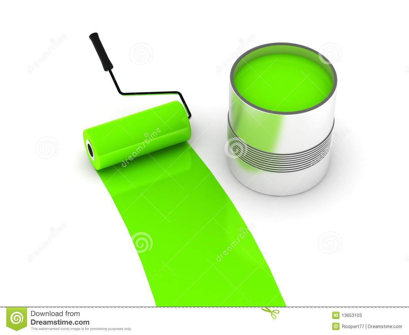Green Paint Can The Image Kid Has It
