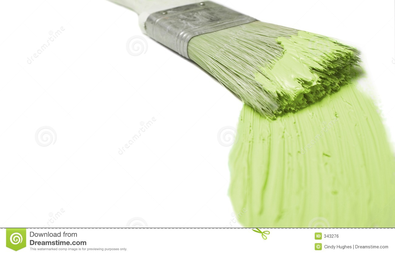 Green Paint Stroke Royalty Free Stock Image Image 343276