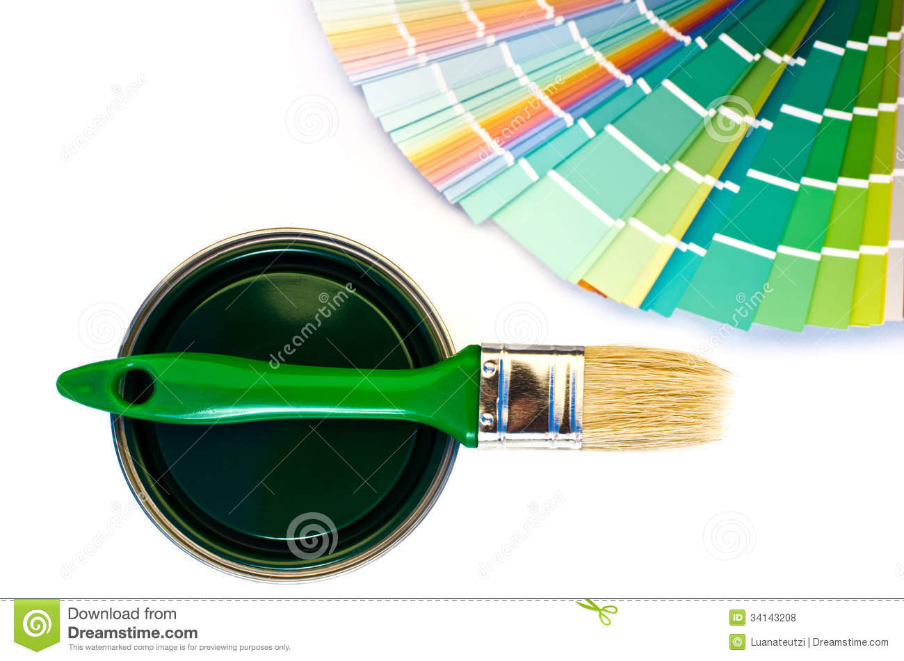 Green Paint And Swatch Royalty Free Stock Photos Image