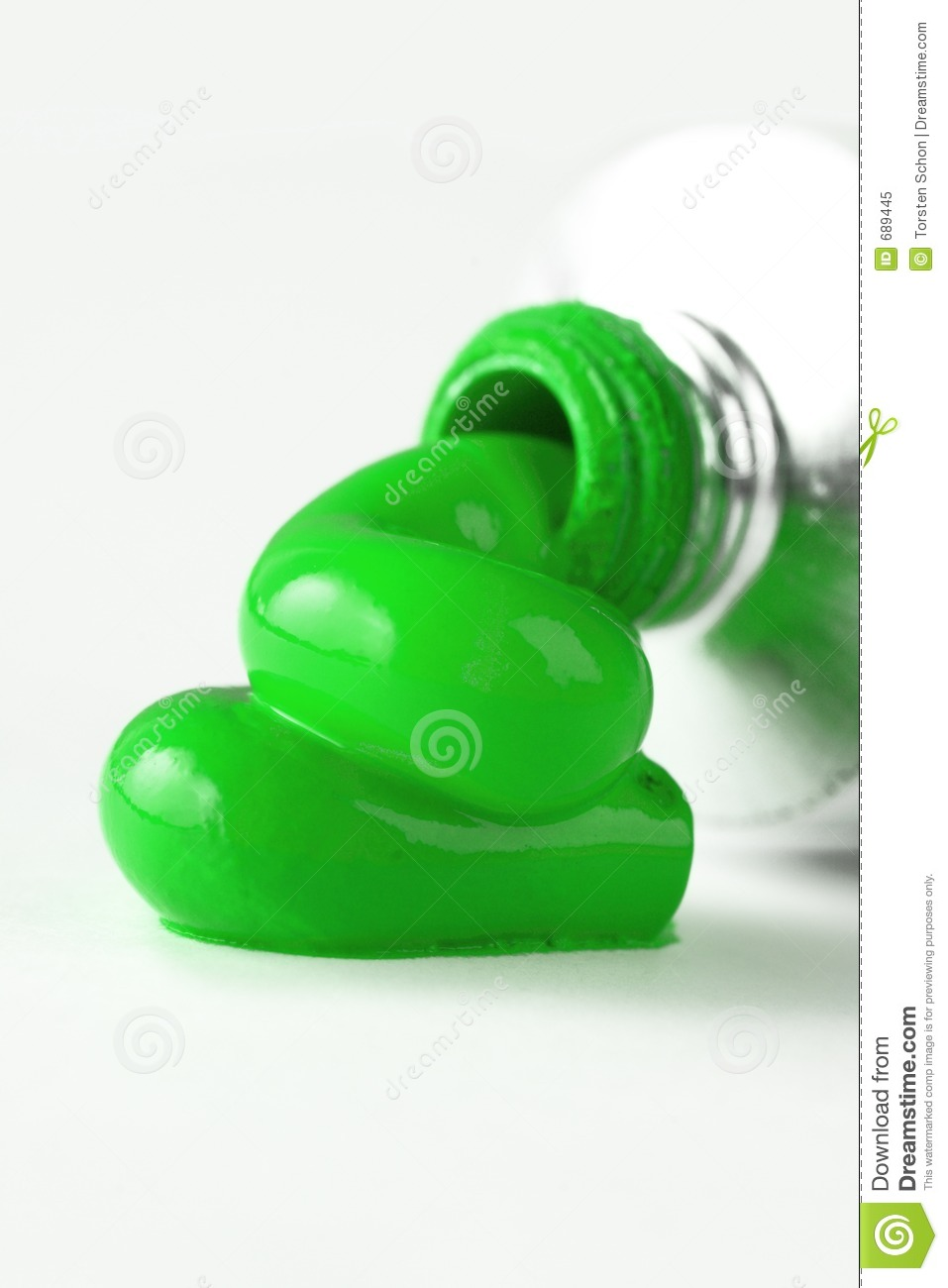 Green Paint Tube Stock Image Image Of Advertising Design