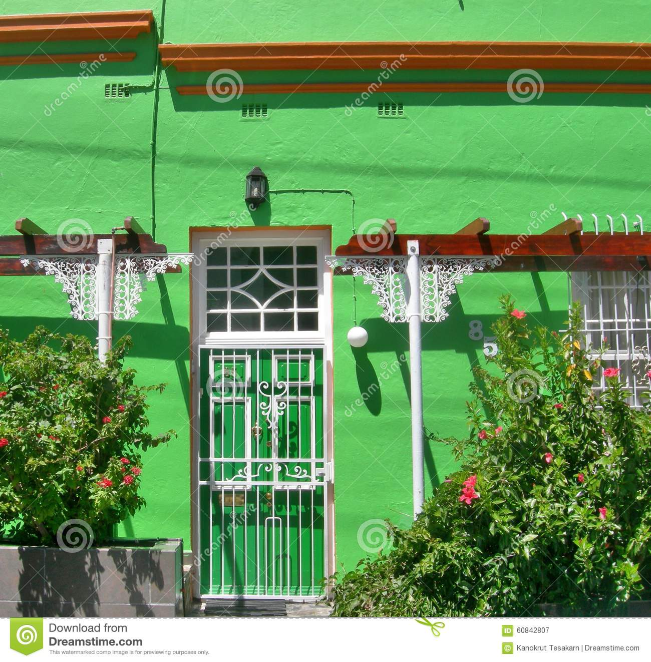 Africa Bo Cape Coloured Community Foot Green Hill House Houses Kaap Muslim  Painted ...