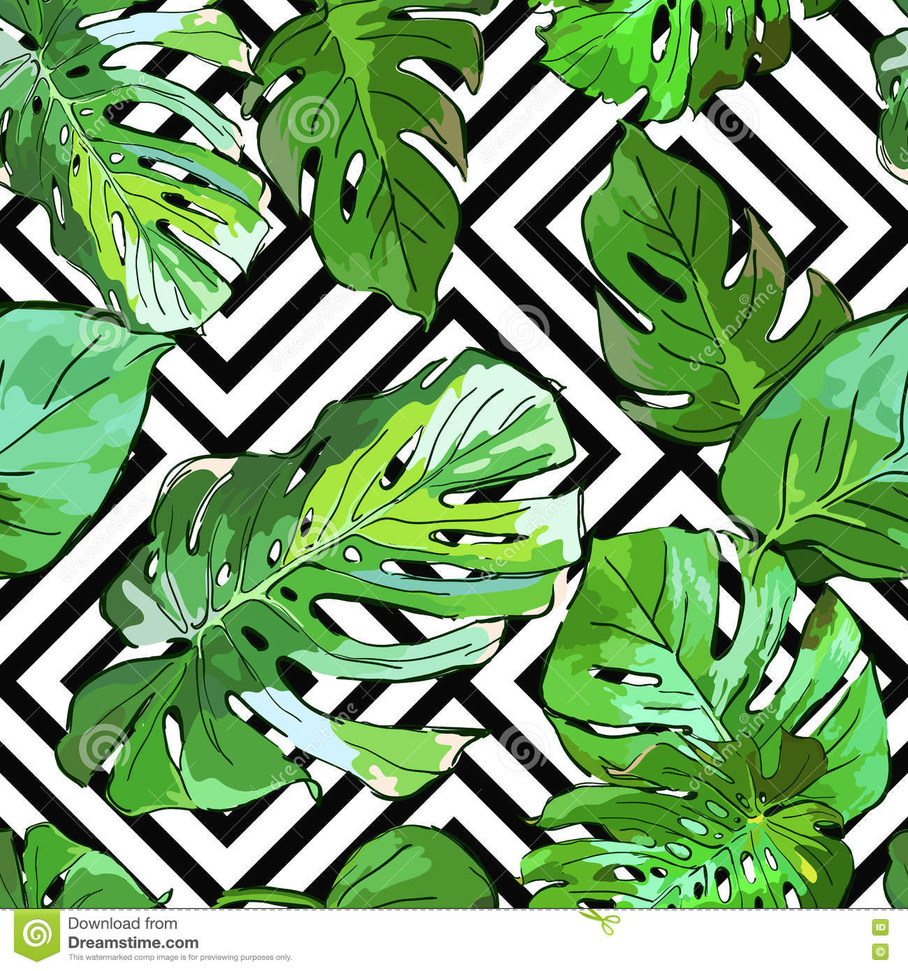 green palm leaves summer - photo #8