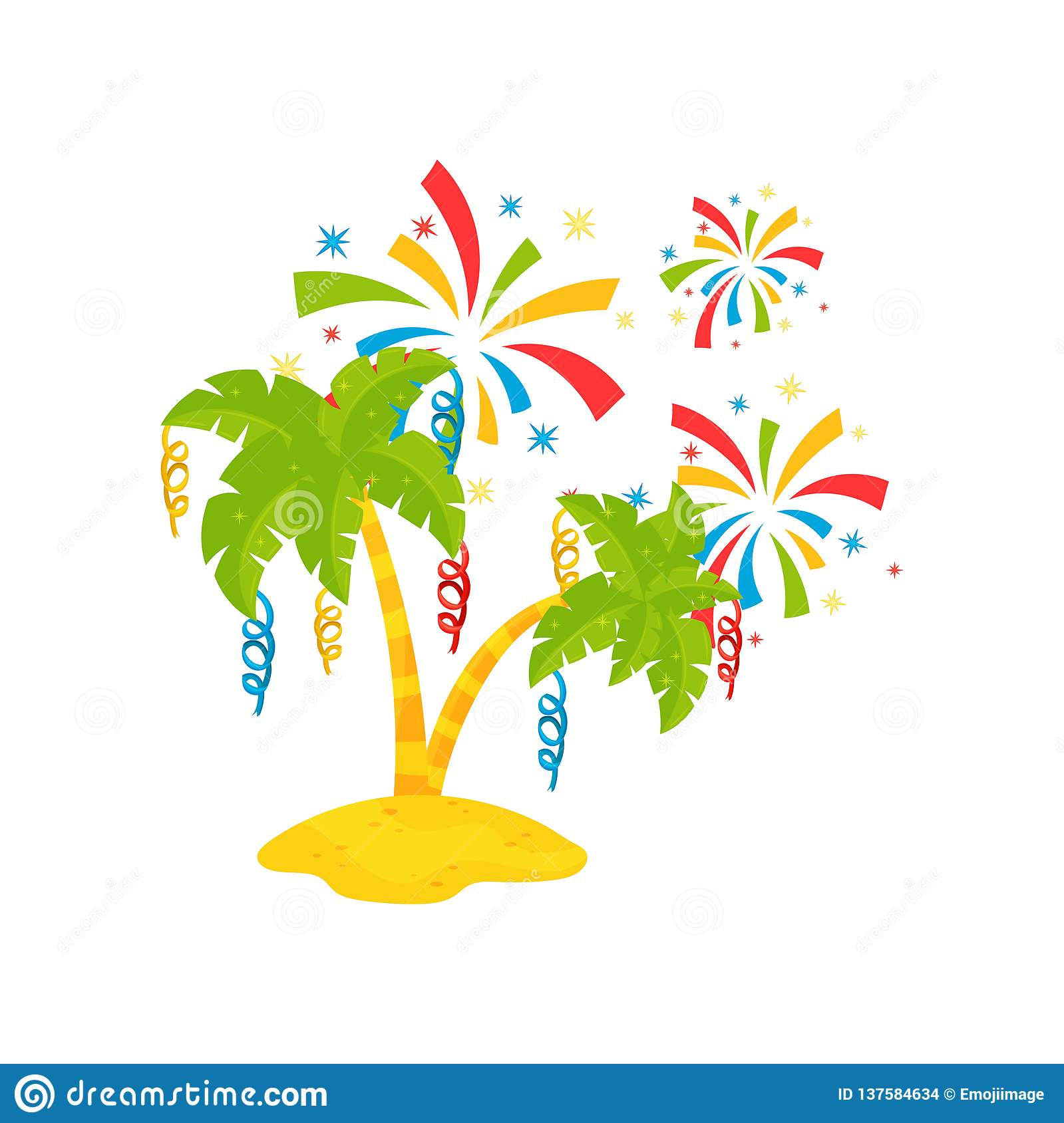 green-palm-trees-sand-colorful-festive-s