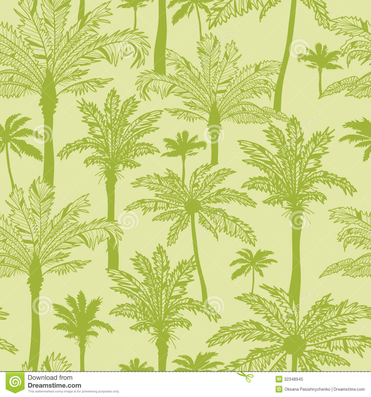 green palm trees seamless pattern background royalty free stock