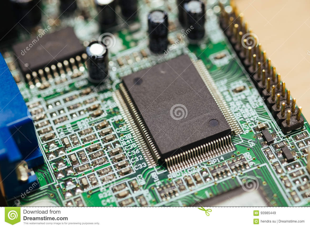 Printed Circuit Board Manufacturing Video Everything About Wiring Pdf Green Pcb Stock Image Of Manufacturer 93985449 Rh Dreamstime Com Layout