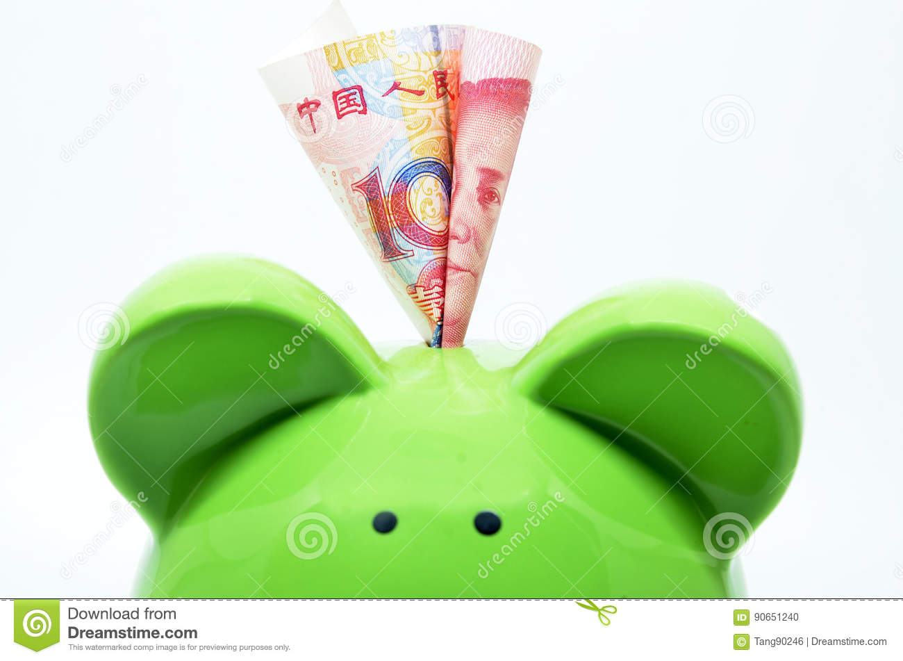Green piggy bank with china currency stock photo image of cost royalty free stock photo biocorpaavc Gallery