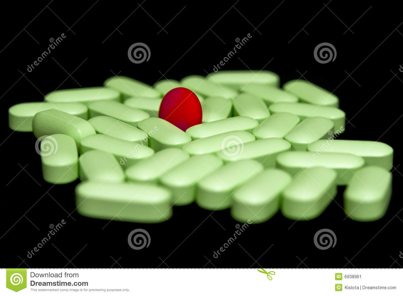 Green pills round Red pill stock image. Image of medical ...
