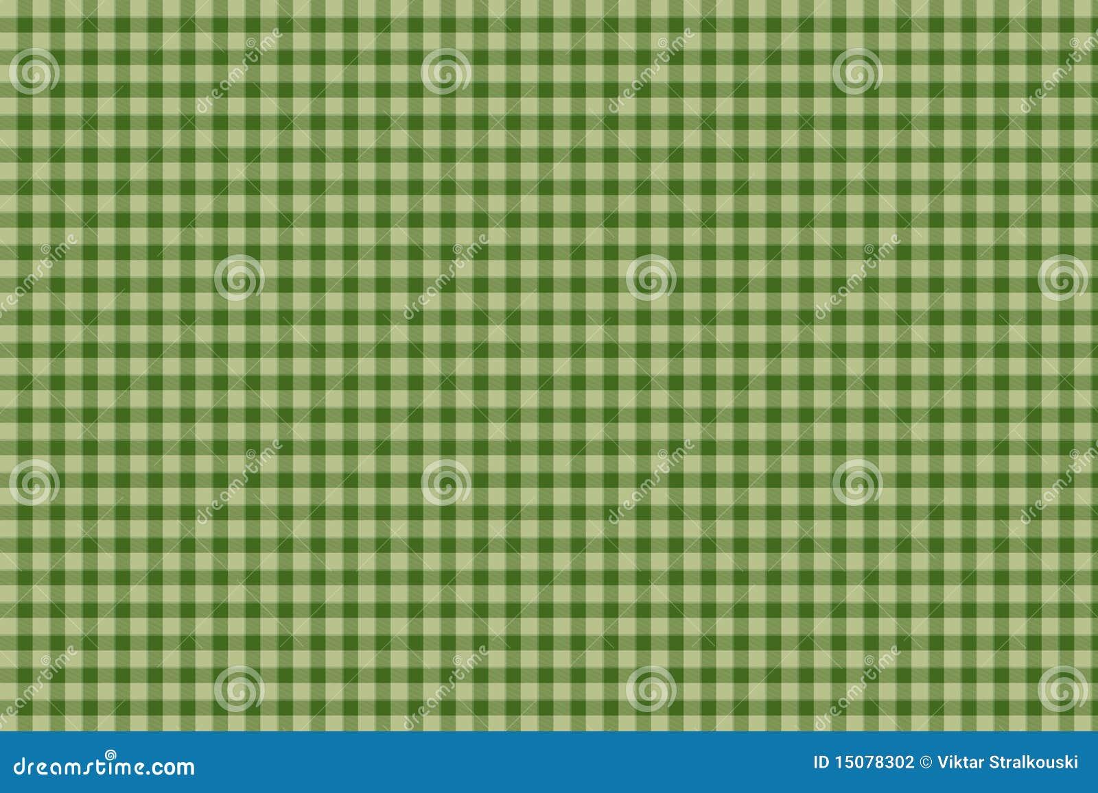 Green Plaid Gingham Background Stock Illustration Image