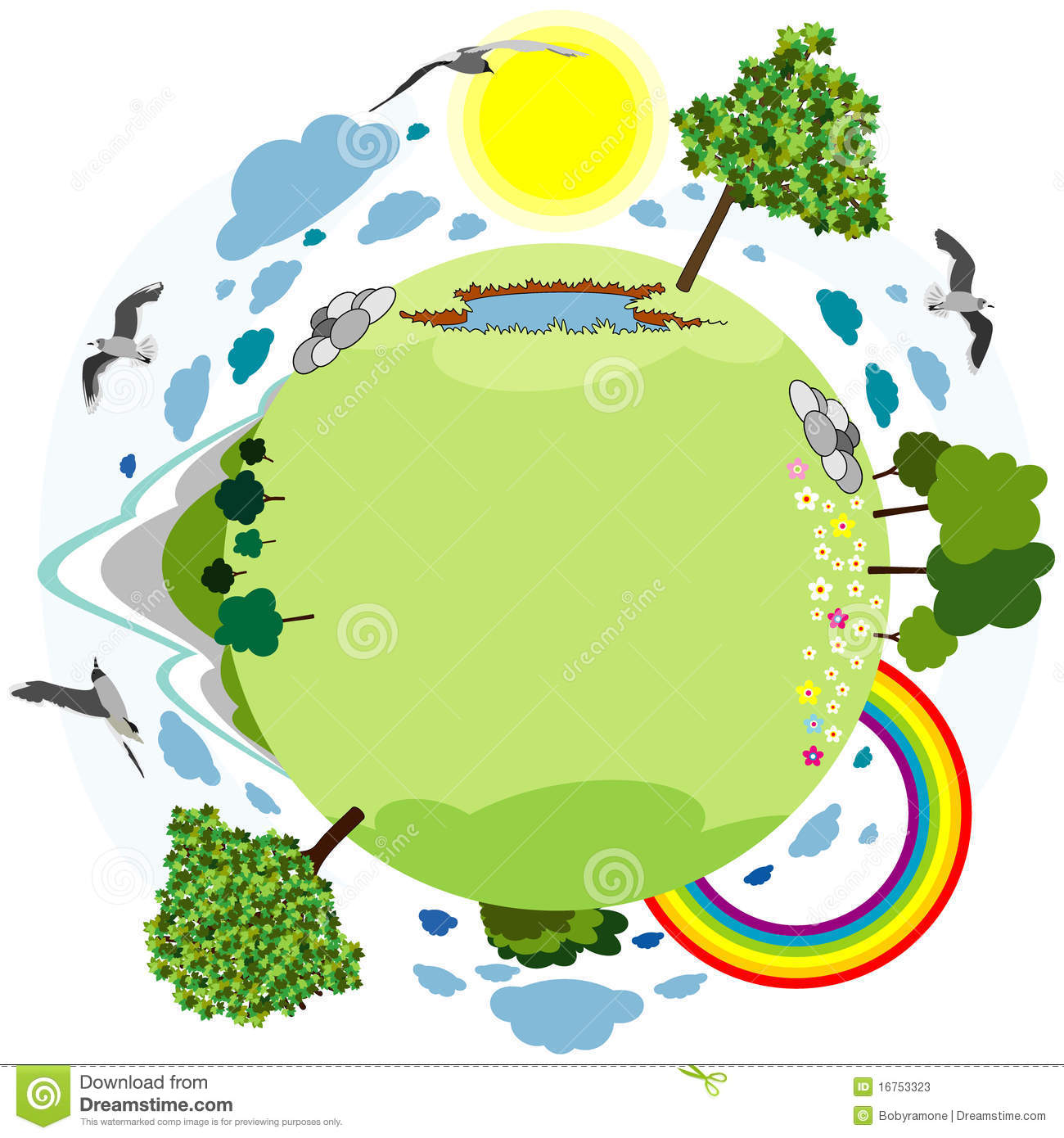 Download Green planet stock vector. Illustration of flower, earth - 16753323