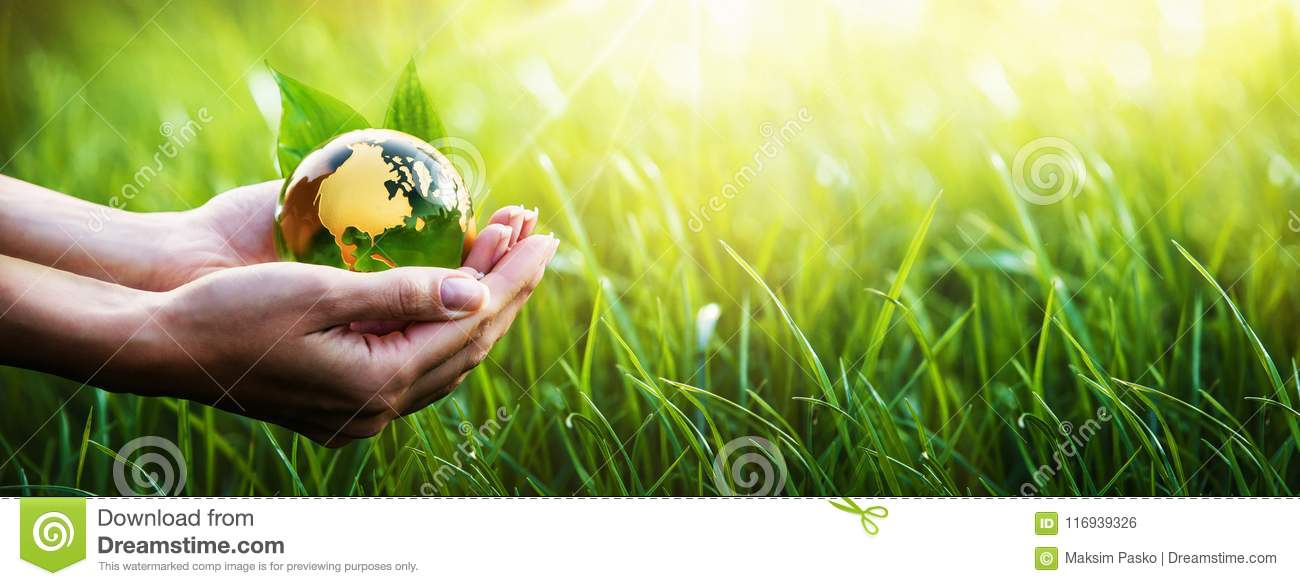 Green Planet in Your Hands. Environment Concept