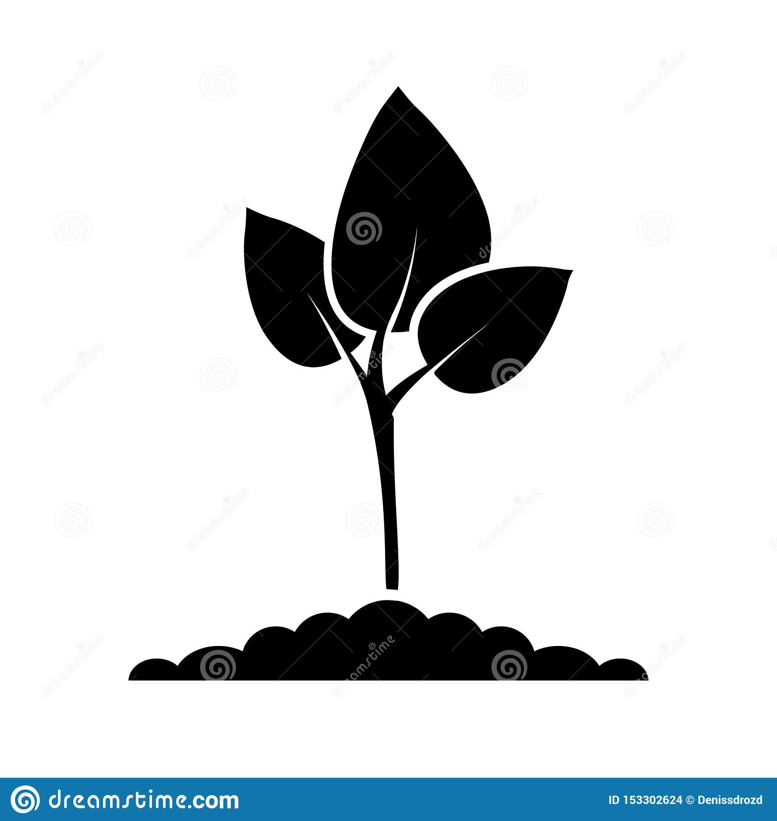 Green plant color icon vector. Plant illustration symbol. for web sites.