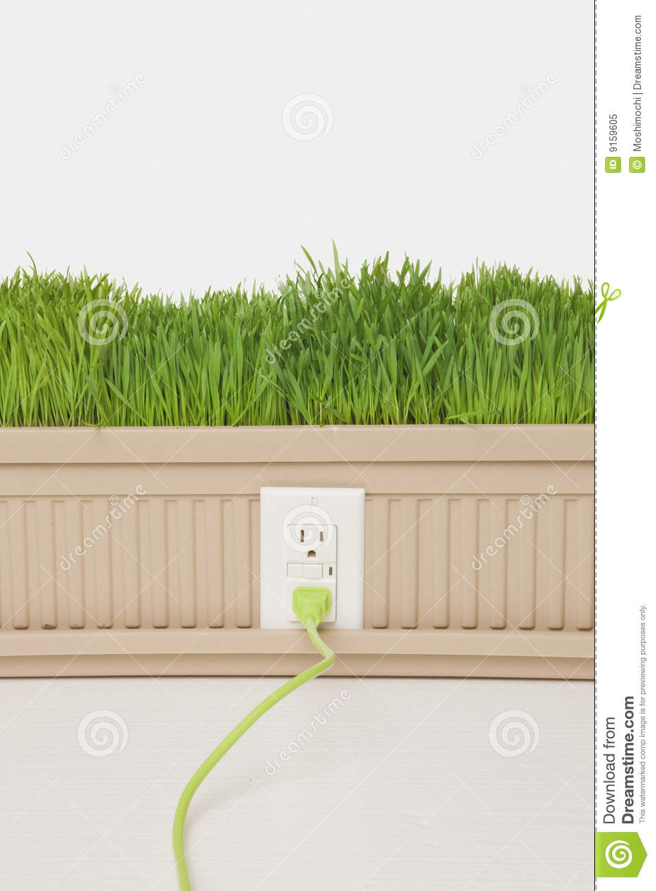 Green Planter Stock Image Image Of Cord Environmental 9159605