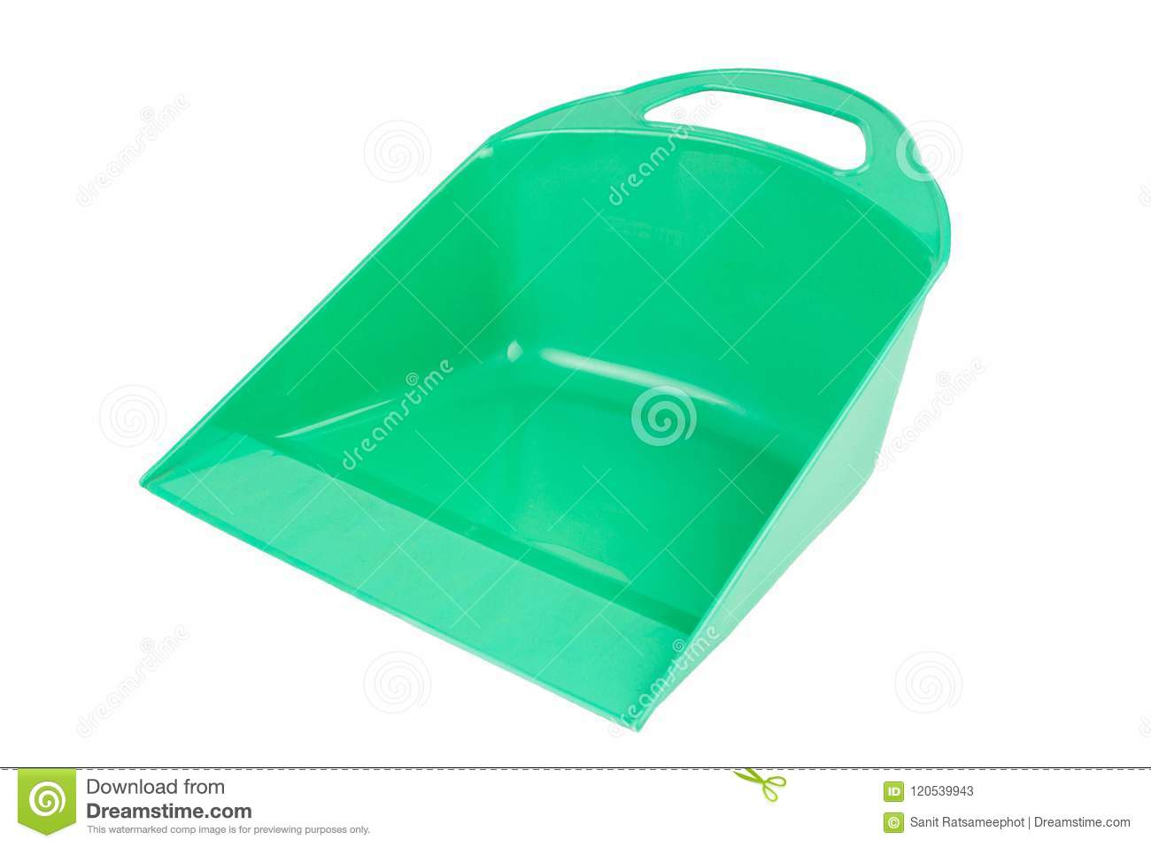 The Green Plastic Dustpan small version.