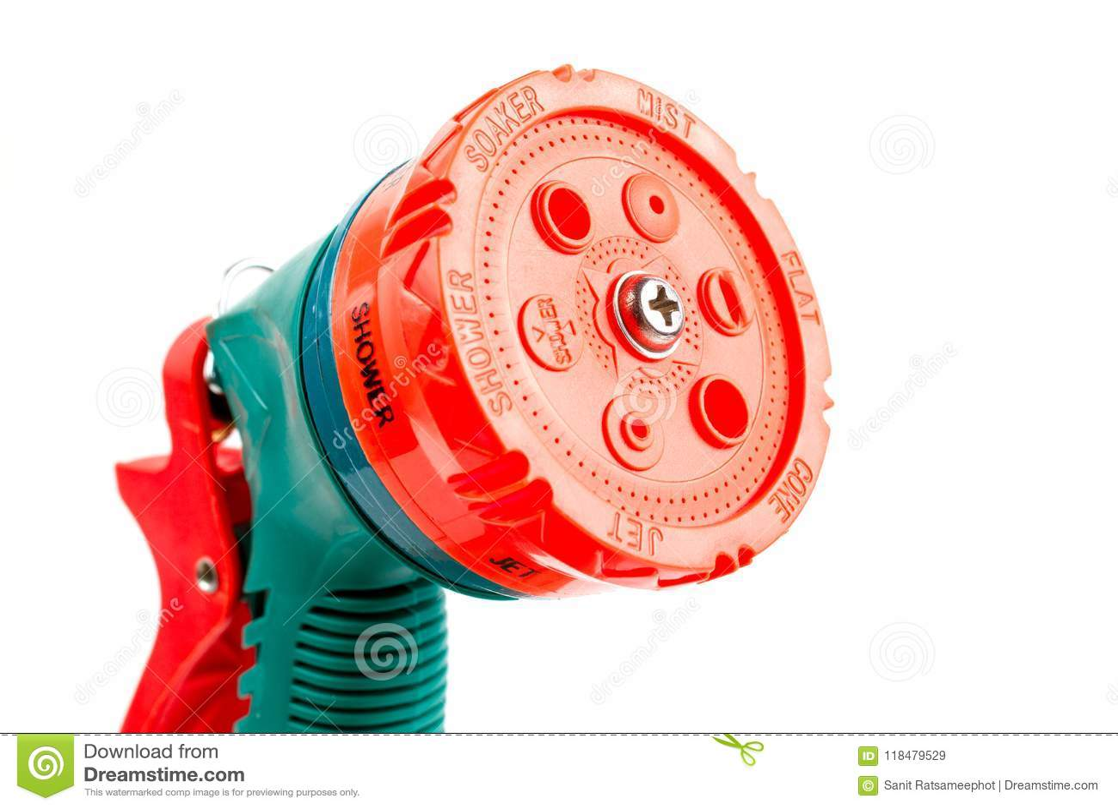 Green Plastic Watering Garden Hose Sprayer.