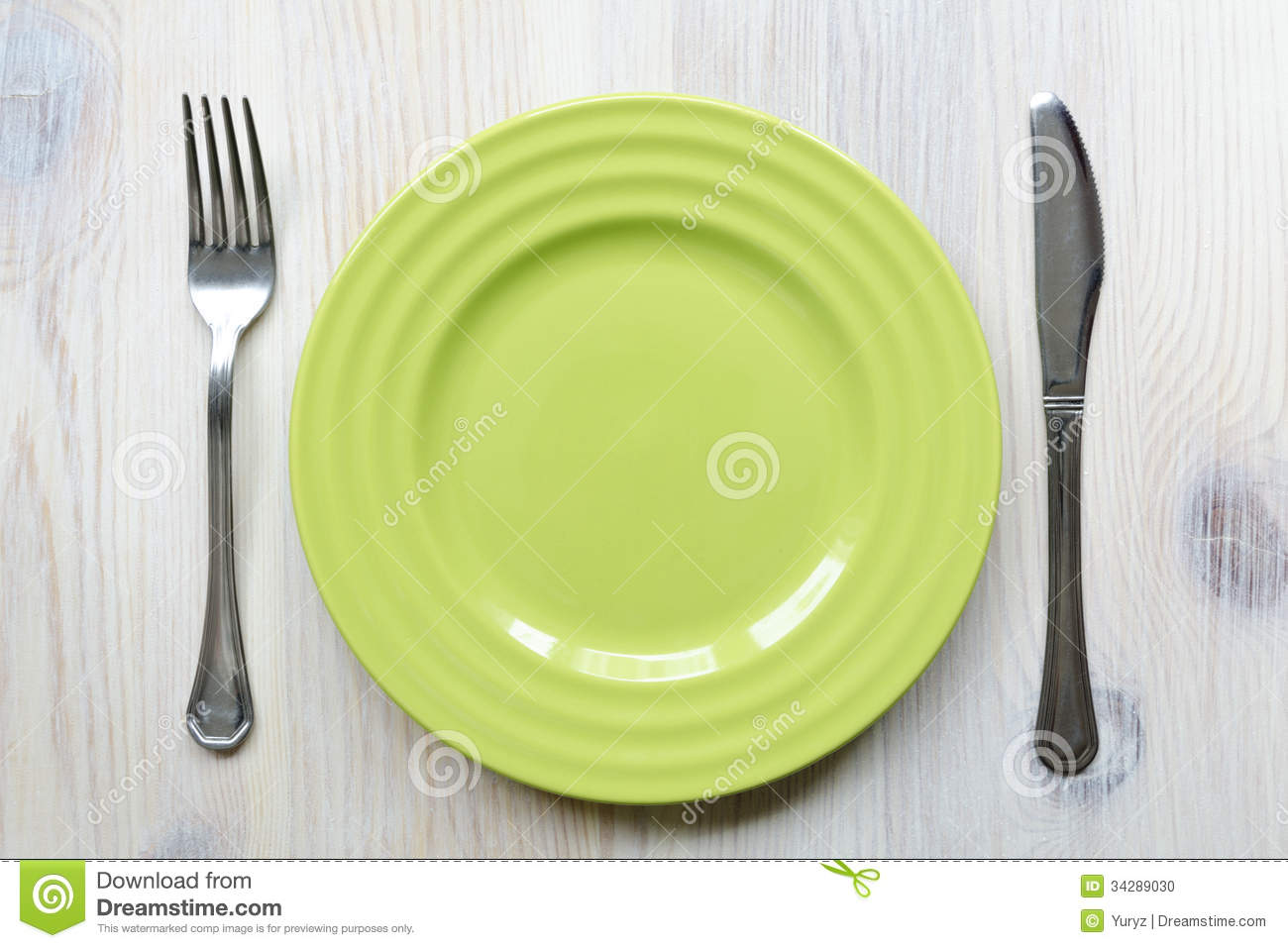 Green Plate Stock Photo Image Of Background Wooden