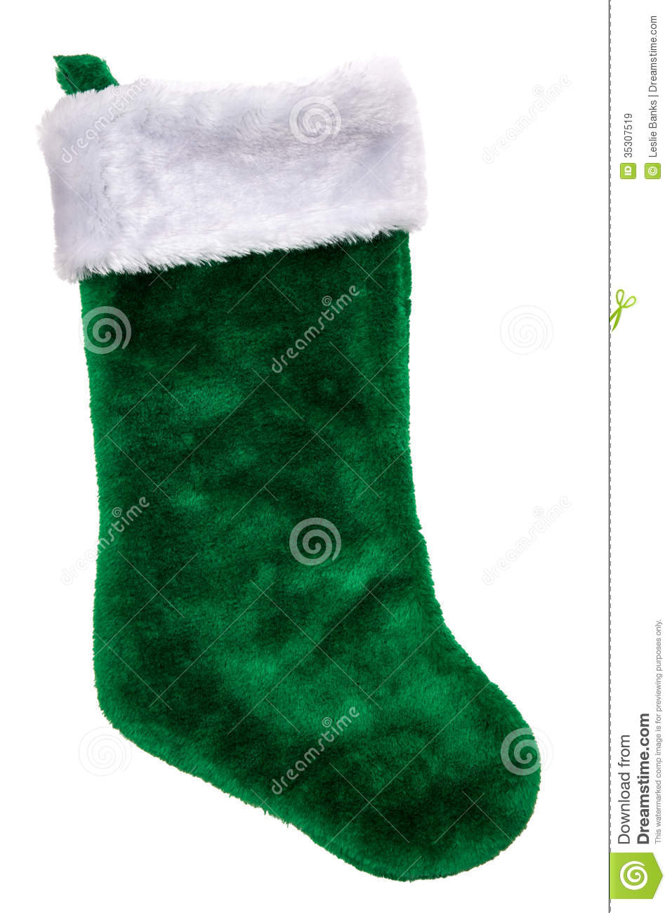 Green Plush Christmas Stocking Royalty Free Stock Images - Image ...