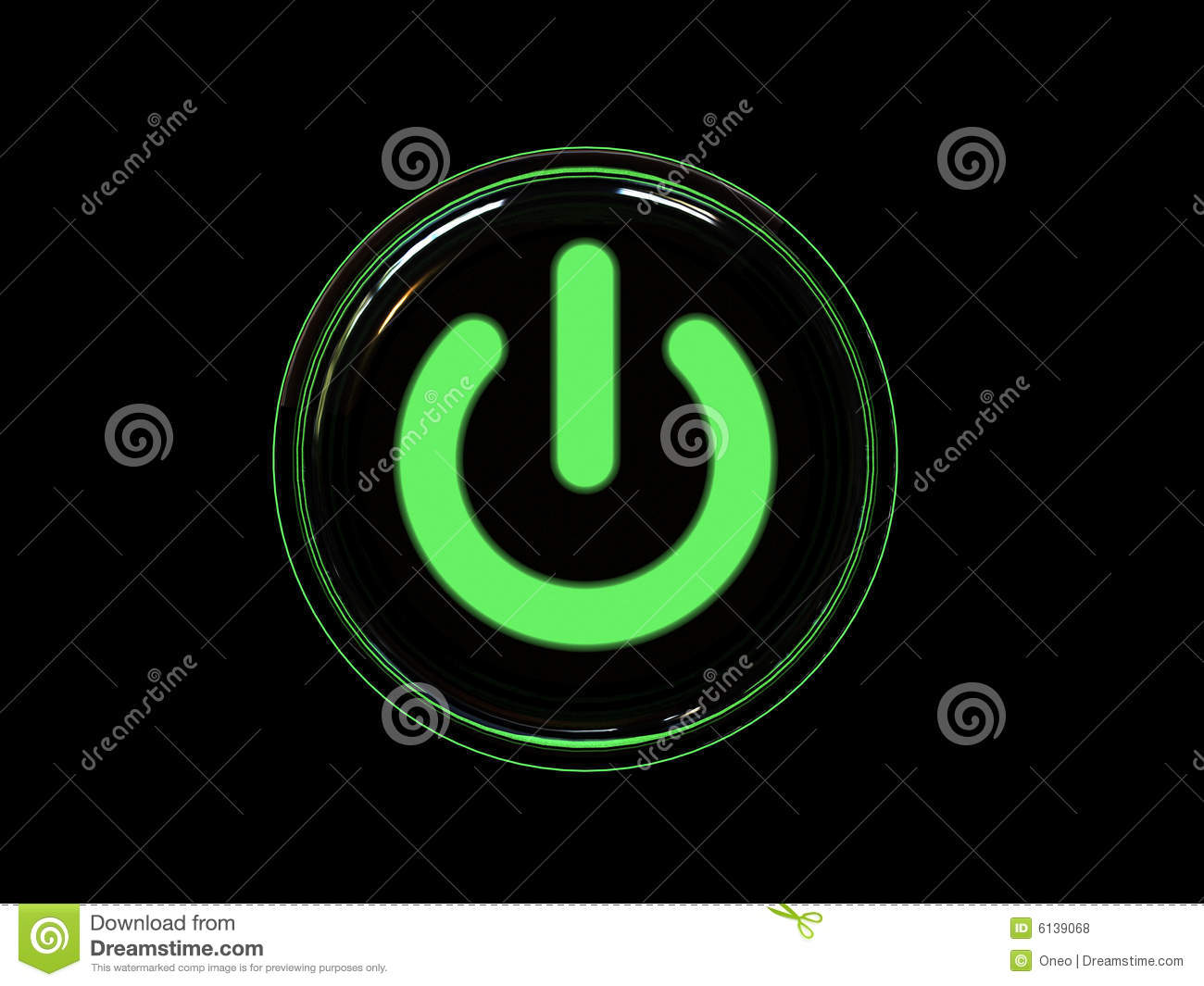 Download Green power button stock photo. Image of design, internet - 6139068
