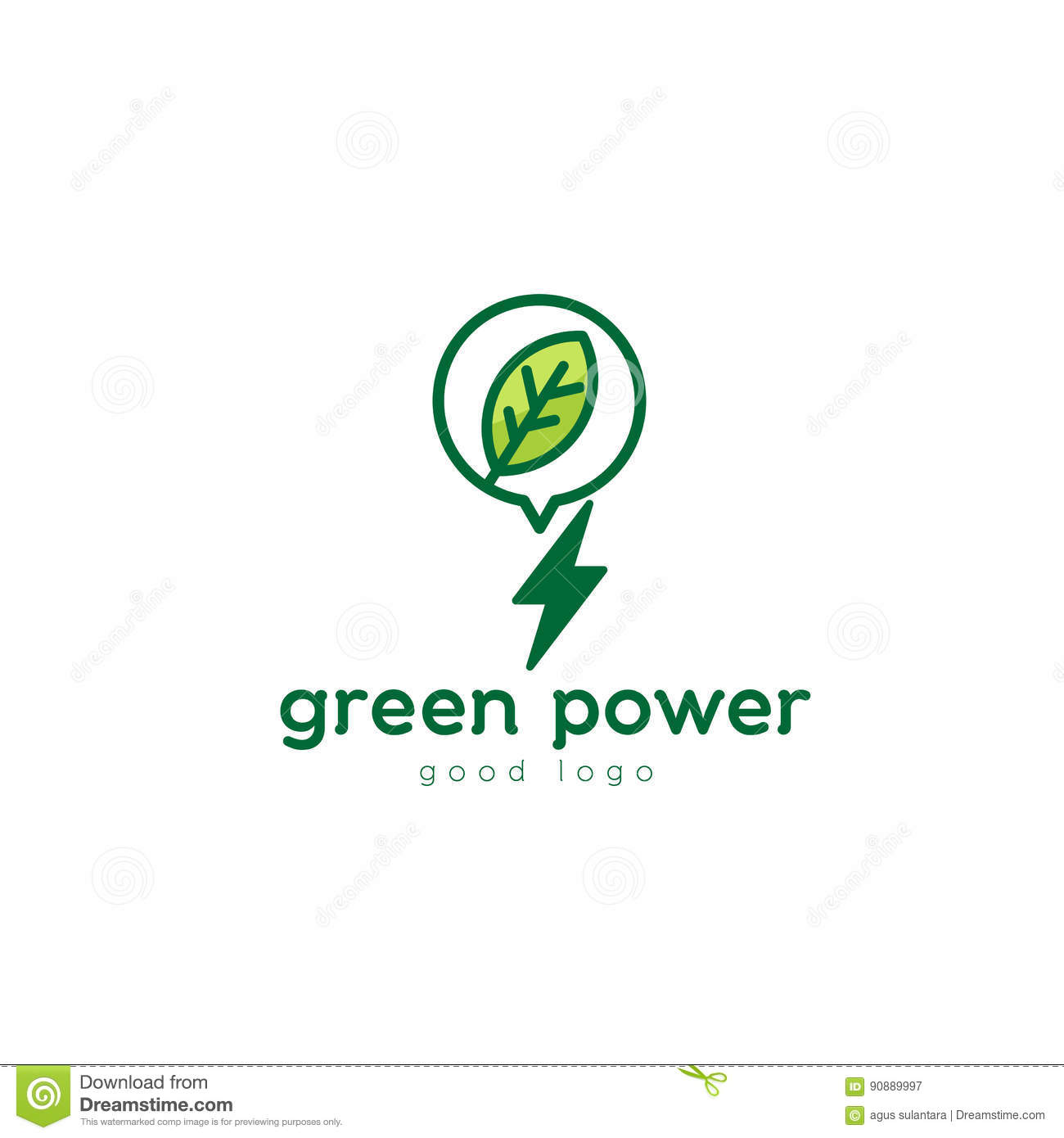 Green Power Nature Leaf Logo Design Stock Vector - Illustration of ... for Logo Design Samples Free Download  584dqh