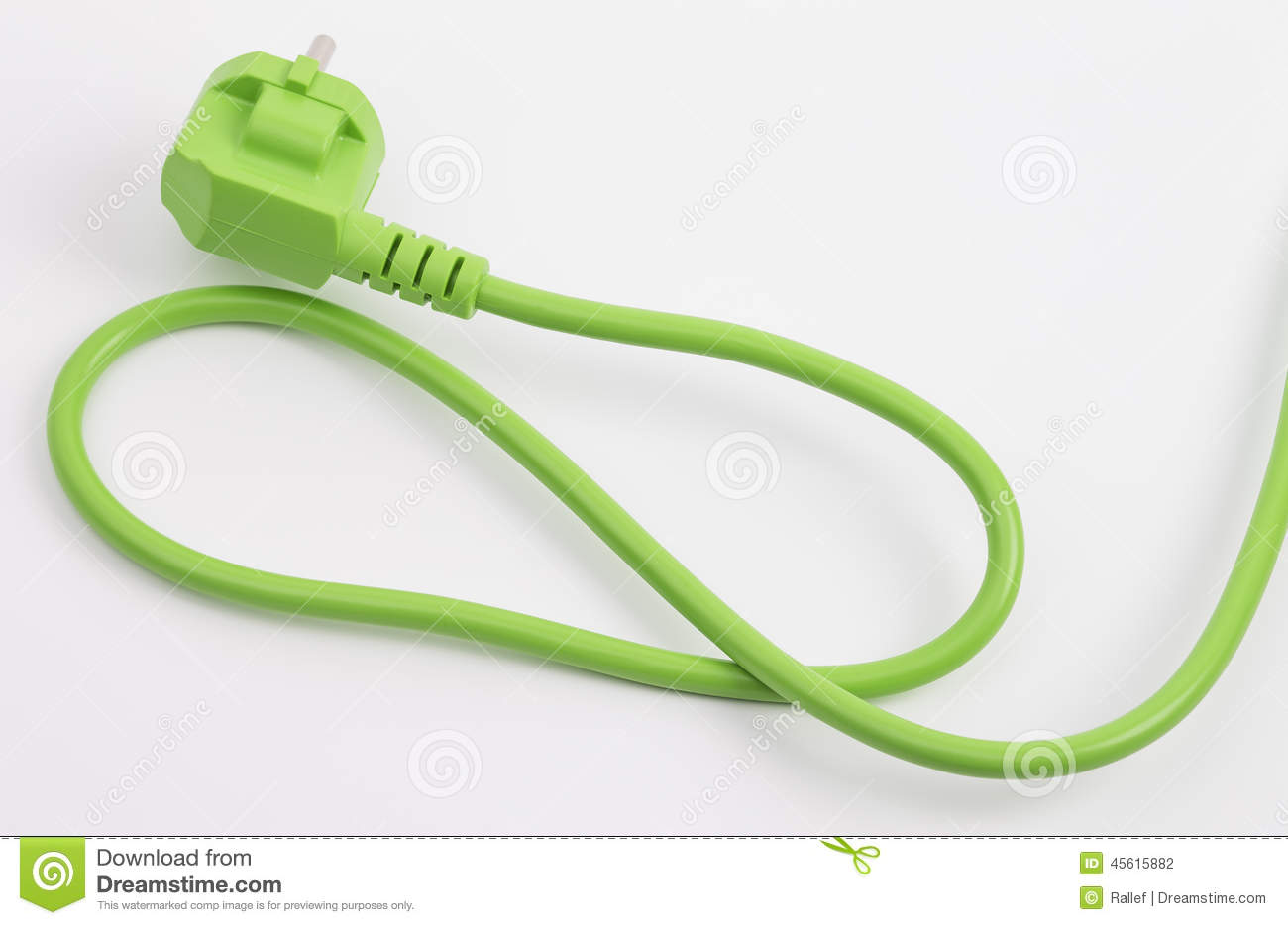 Download Green power plug stock photo. Image of efficiency, power - 45615882
