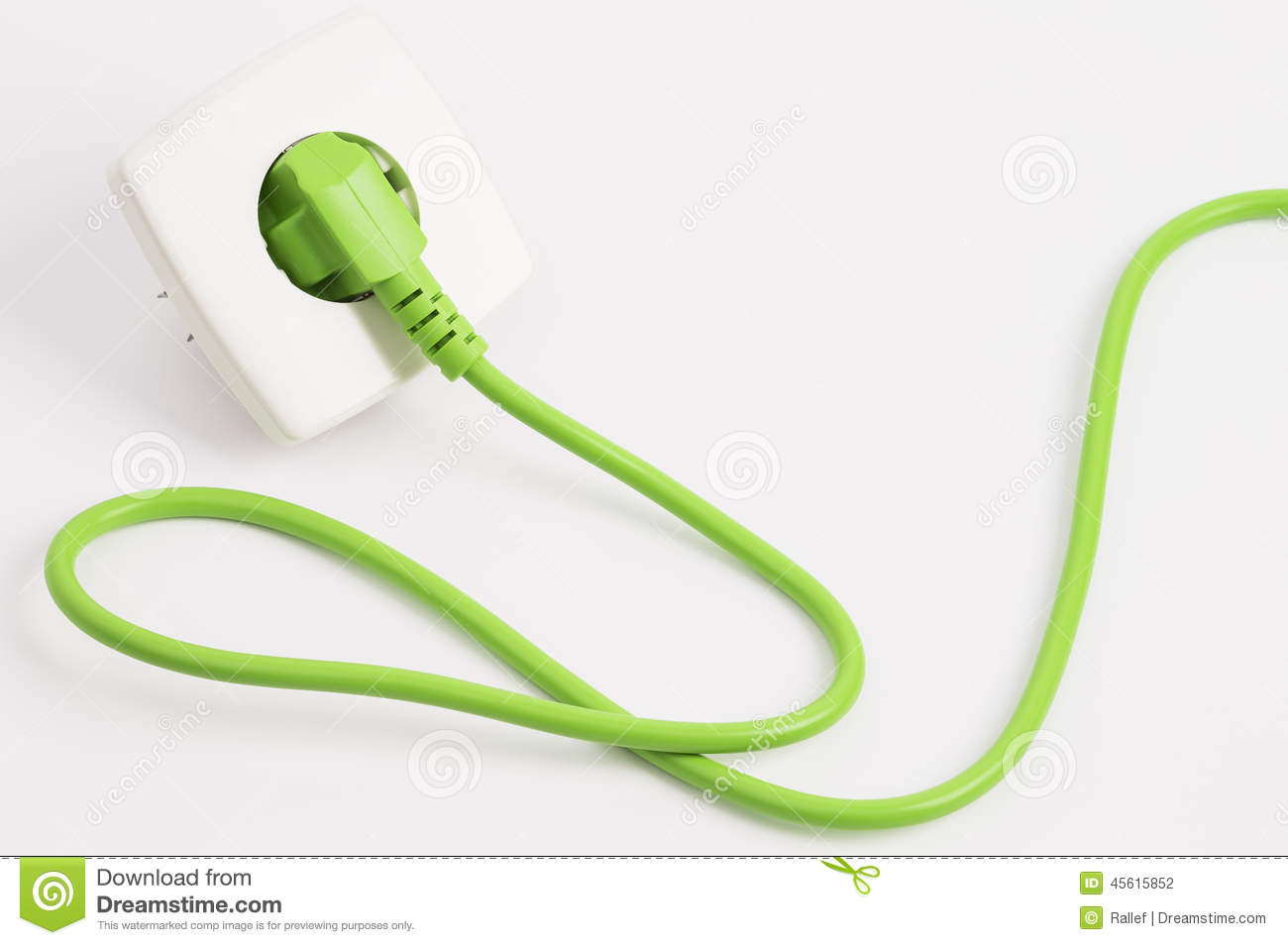 Download Green Power Plug And Outlet Stock Photo - Image of green, consumption: 45615852