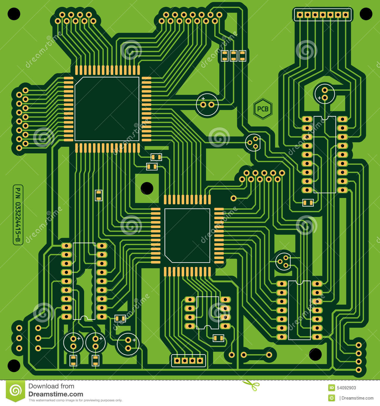 Green Circuit Board Clip Art Best Secret Wiring Diagram Pics Photos Desktop Wallpapers Printed Pictures Pcb Stock Vector Drawing Design