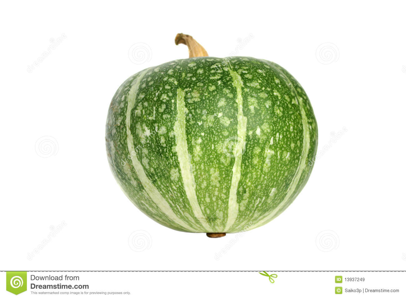Green Pumpkin Isolated Royalty Free Stock Images - Image: 13937249