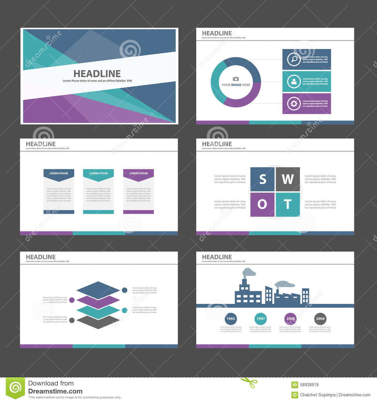 Green Purple Blue Infographic Element And Icon Presentation ...