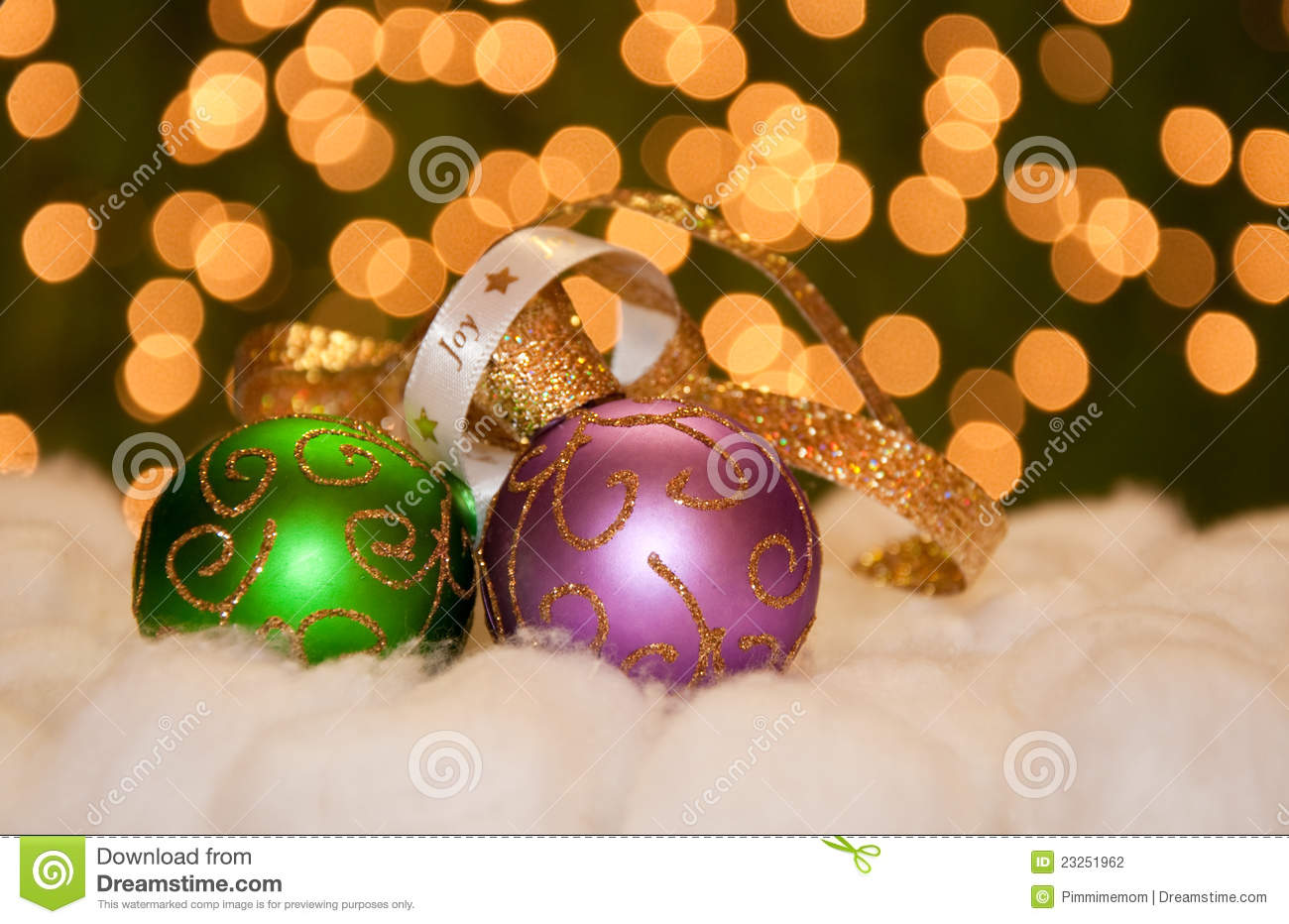 green and purple gold christmas ball ornaments