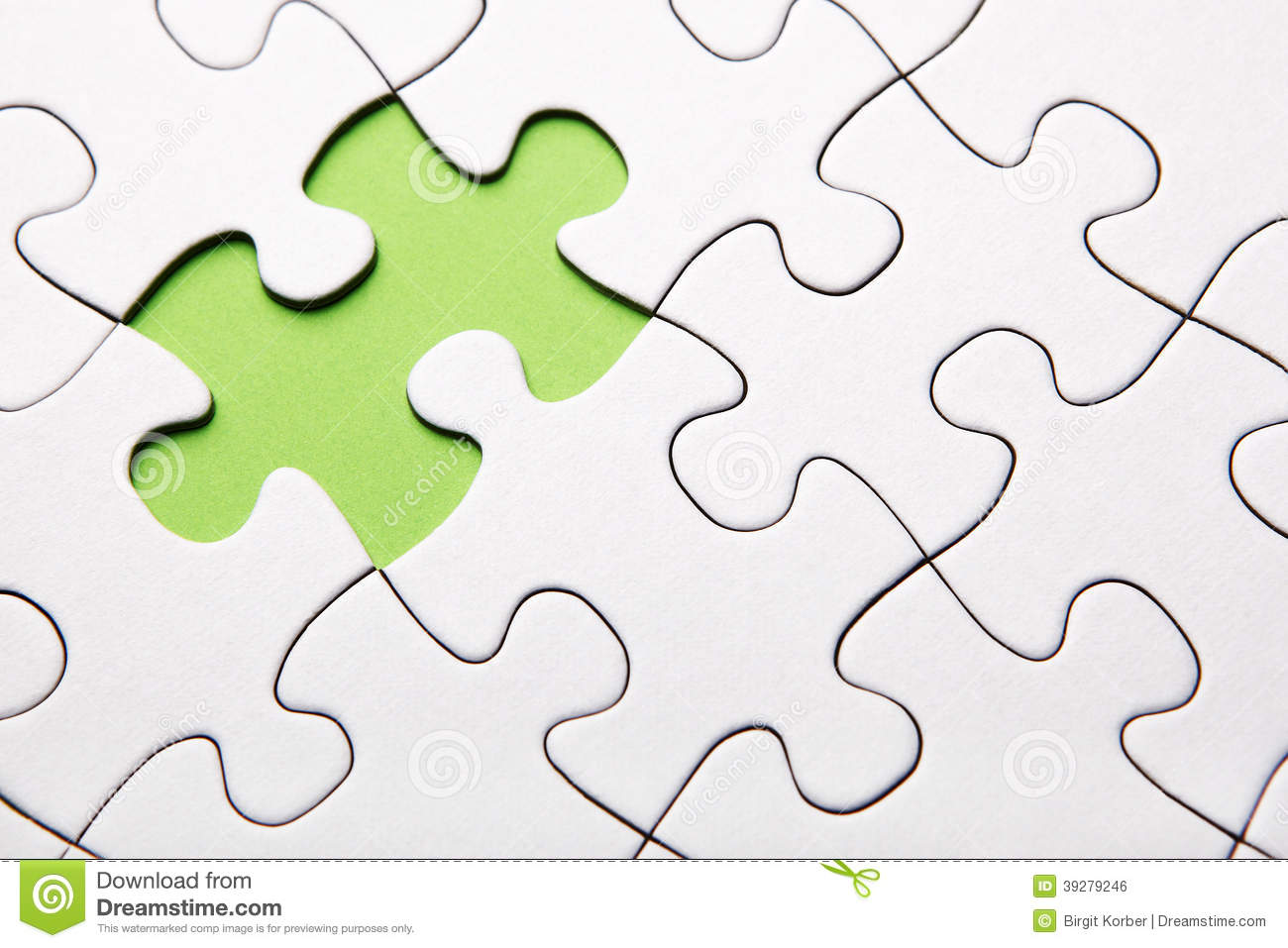 Green puzzle piece missing stock photo. Image of green ...
