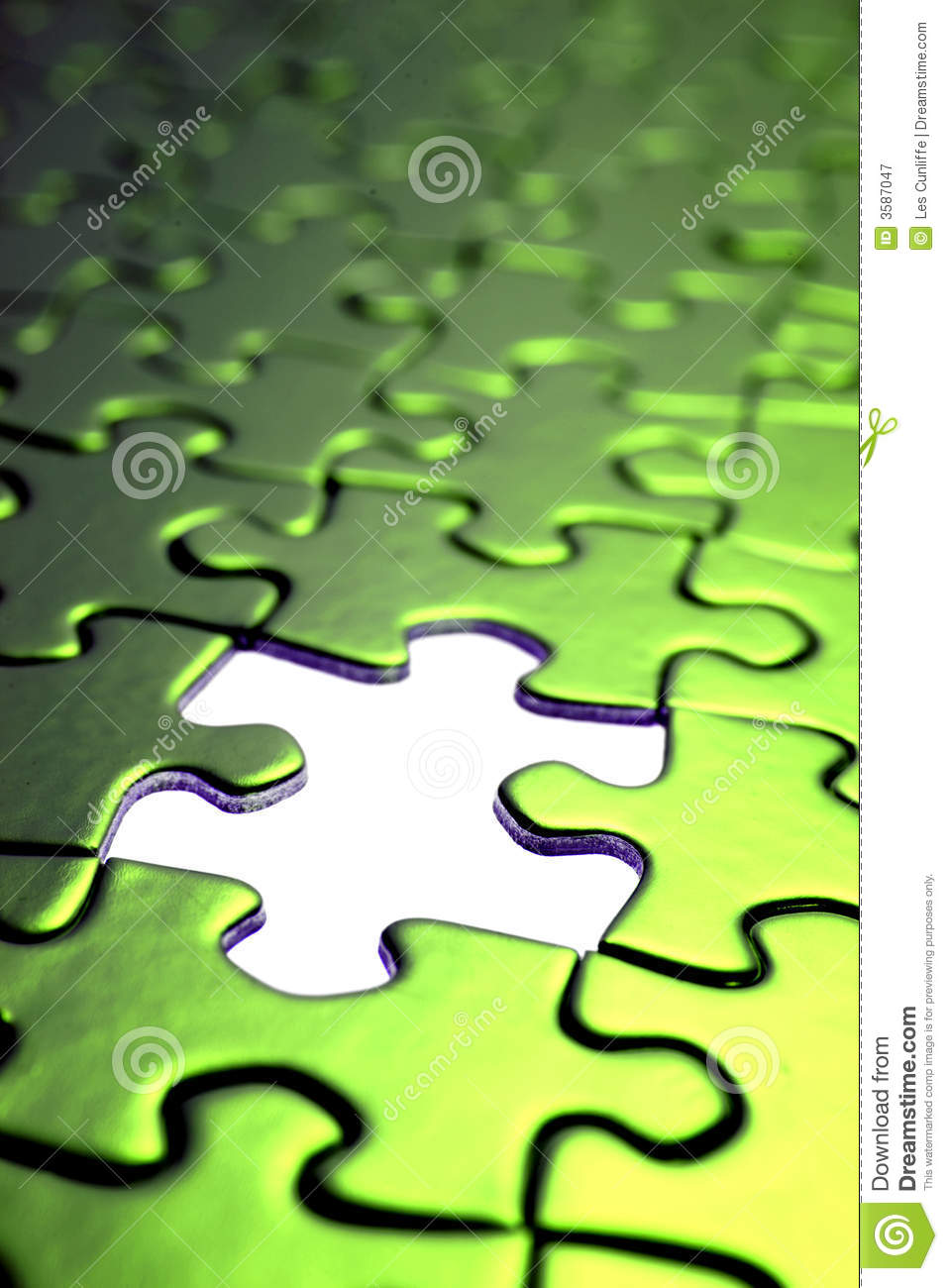 green puzzle pieces royalty free stock photography