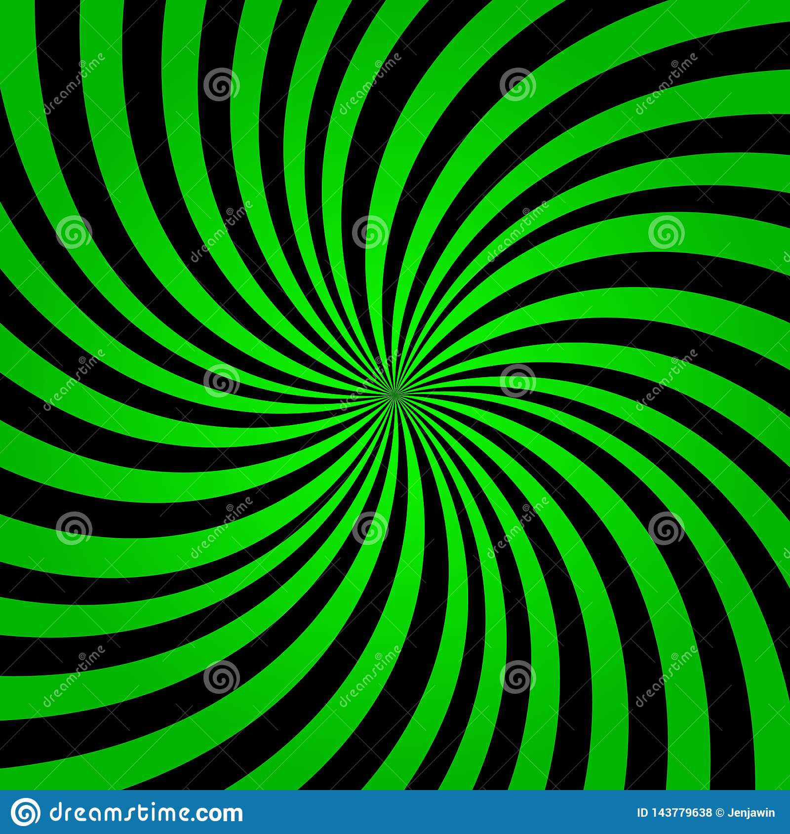 Green rainbow rays background. Green color burst background vector eps10. Green and black rays background.