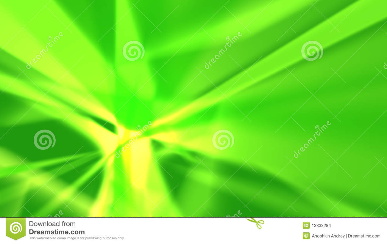 Green Rays Abstract Background Stock Illustration