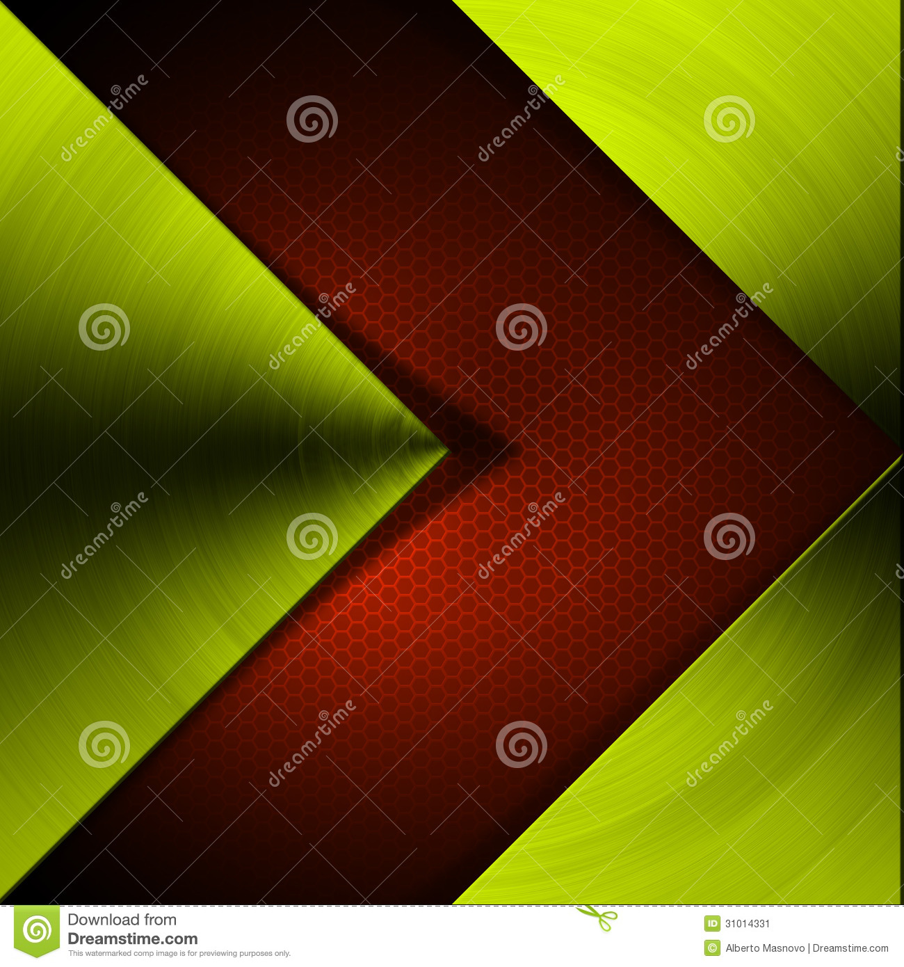 green and red arrow metal background stock image image