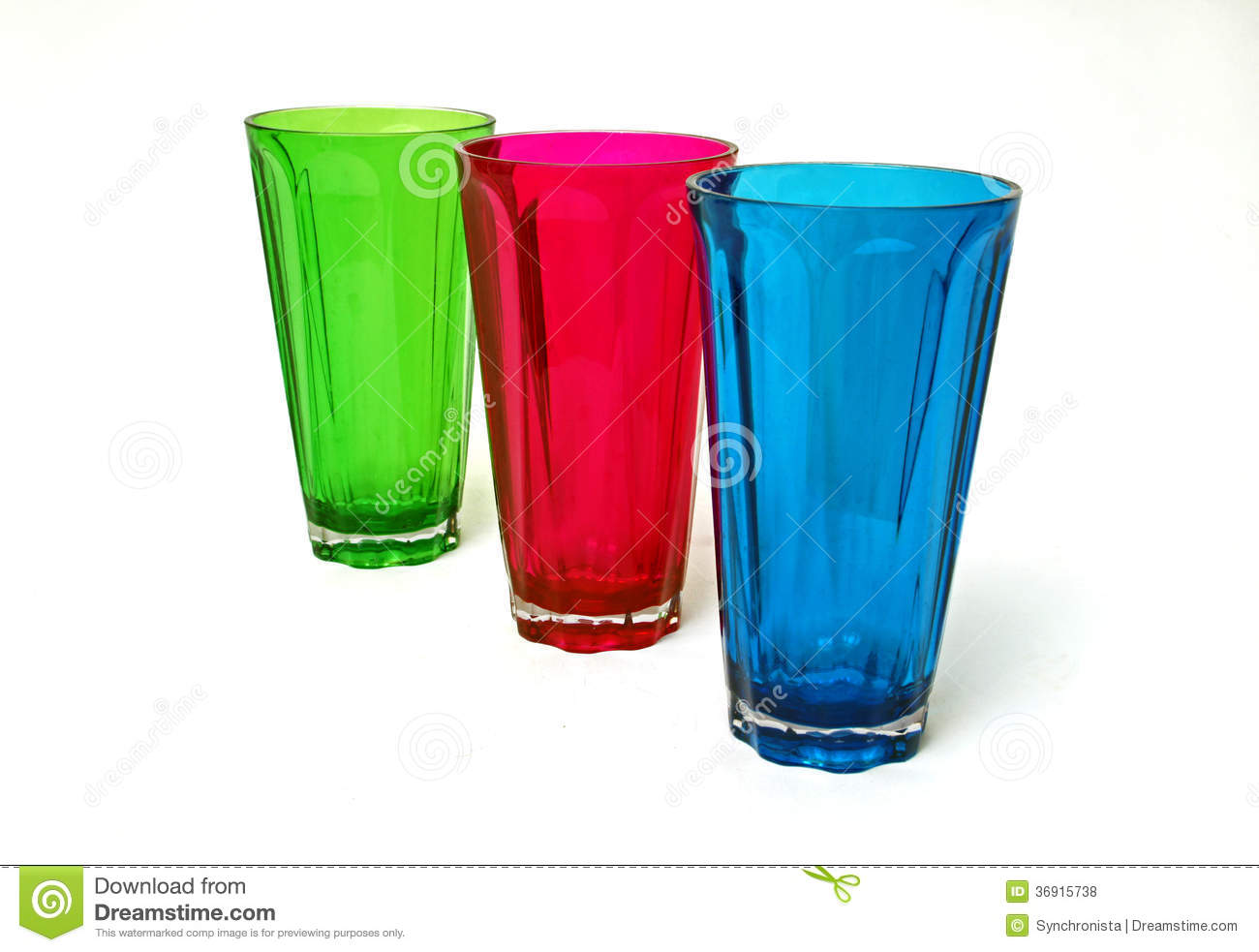 Green Red Blue Plastic Cups Royalty Free Stock Photos