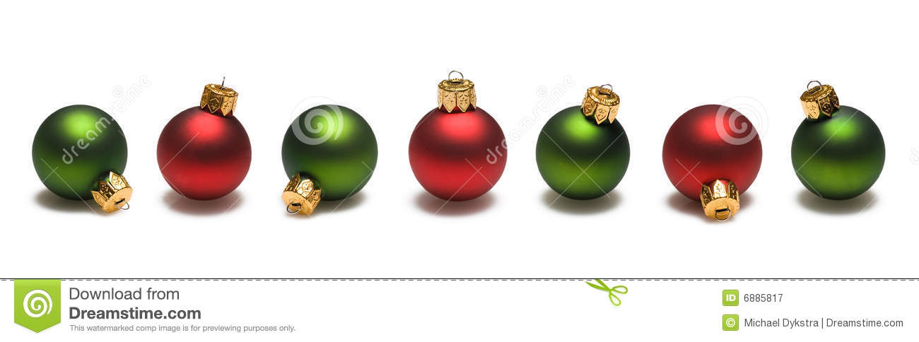 White christmas tree with blue decorations red and gold christmas - Green And Red Christmas Balls Border Royalty Free Stock