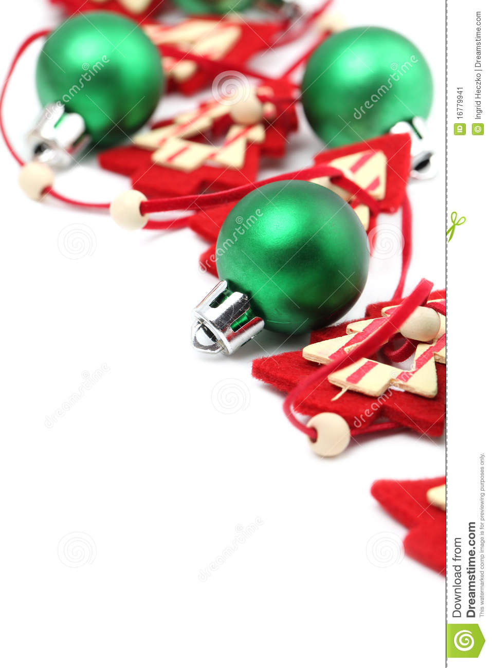 Green and red christmas decorations stock image image for Red and green christmas decorations