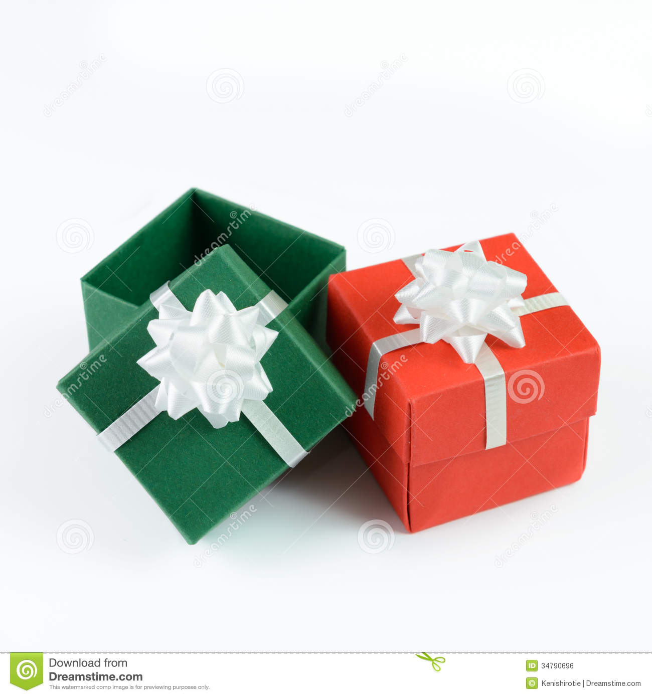 Green and red gift boxes stock photo image of