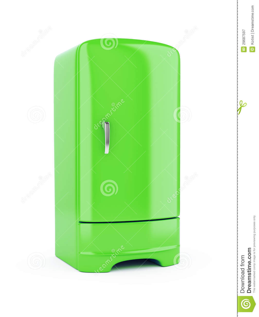 Green Refrigerator Royalty Free Stock Photography - Image ...