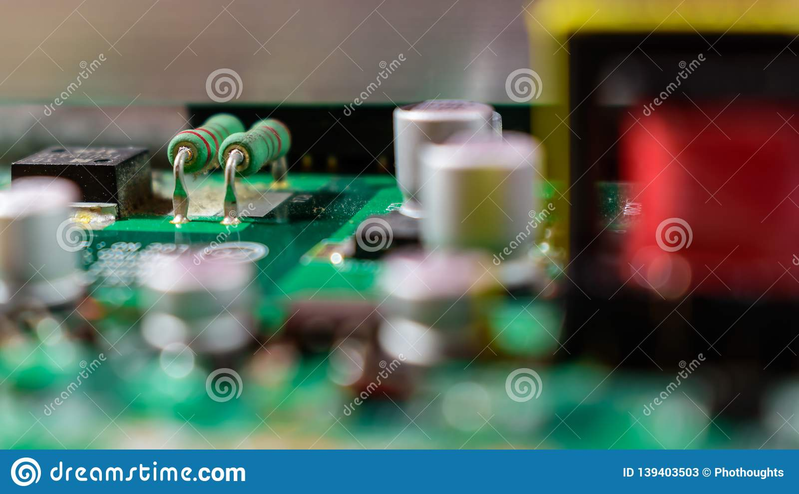 Green resistors on television board