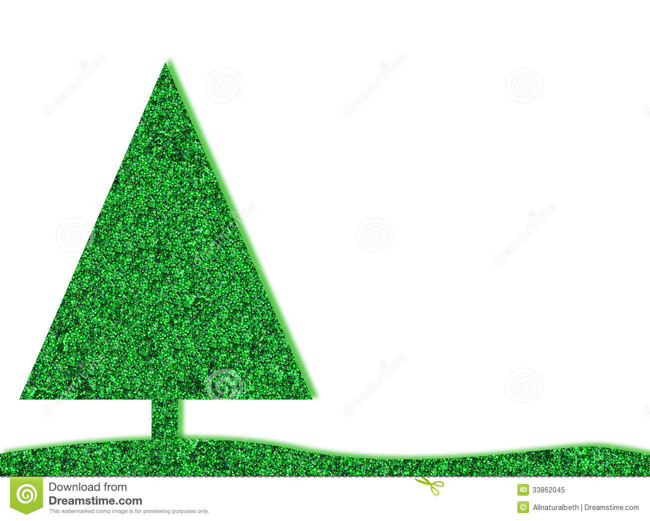 background christmas glitter green retro tree - Glitter Christmas Tree