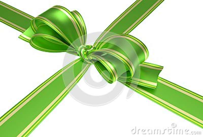 Green Ribbon And Bow Stock Illustration Illustration Of Celebration
