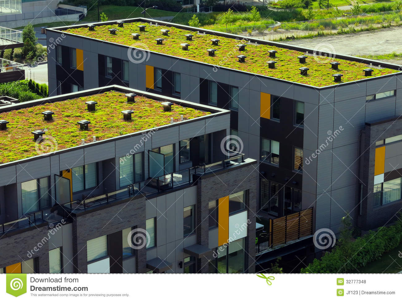Green Roof Royalty Free Stock Photos Image 32777348