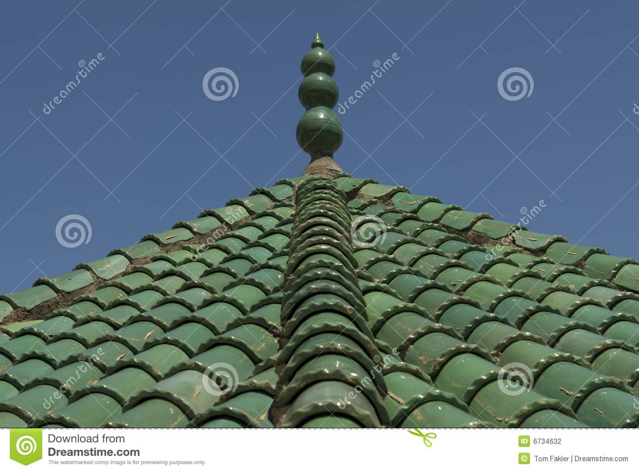 Green roof tiles fez morocco stock photography image for Fez tiles