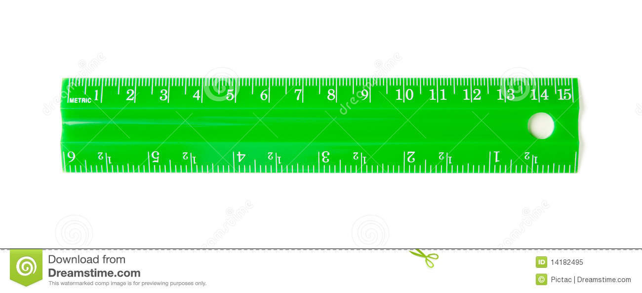 Green Ruler Royalty Free Stock Photo - Image: 14182495