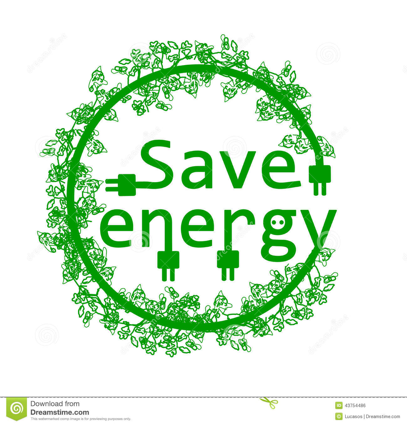 Awesome Green Save Energy Royalty Free Stock Image