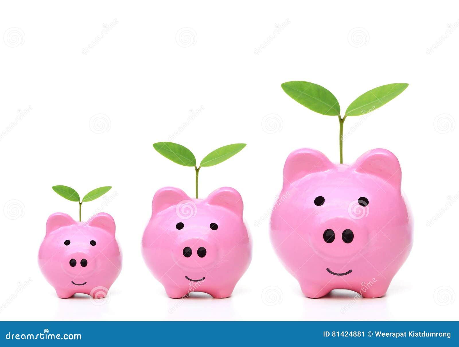 7324fb97edf Green saving stock image. Image of banks